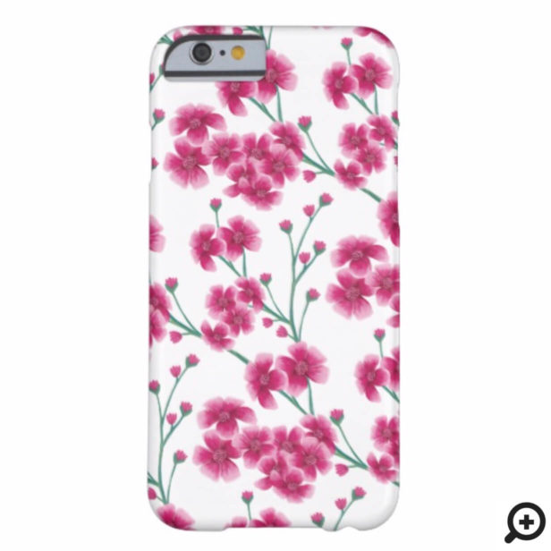 Chic Pink Cherry Blossom Floral Pattern Case-Mate iPhone Case