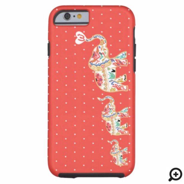 Elegant Elephant Train Floral Decorative Ornate Case-Mate iPhone Case