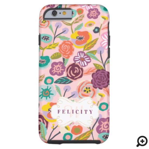 Vibrant Abstract Floral & Foliage Botanical Garden Case-Mate iPhone Case