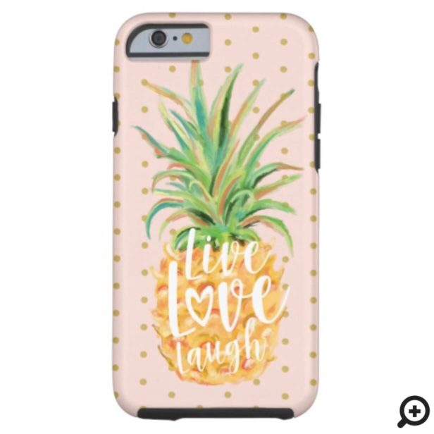Live Love Laugh | Trendy Topical Island Pineapple Case-Mate iPhone Case