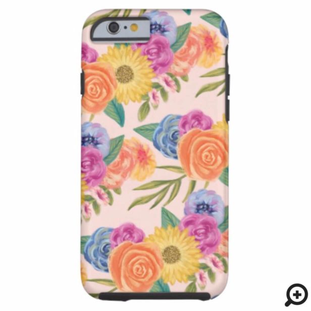 Chic Lively Floral Blossom Print Case-Mate iPhone Case
