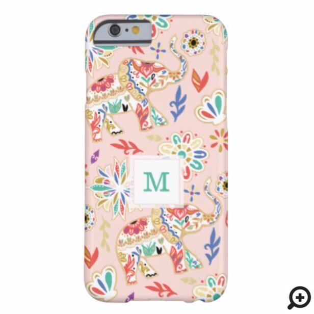 Elegant Floral Decorative Ornate Elephant Pattern Case-Mate iPhone Case