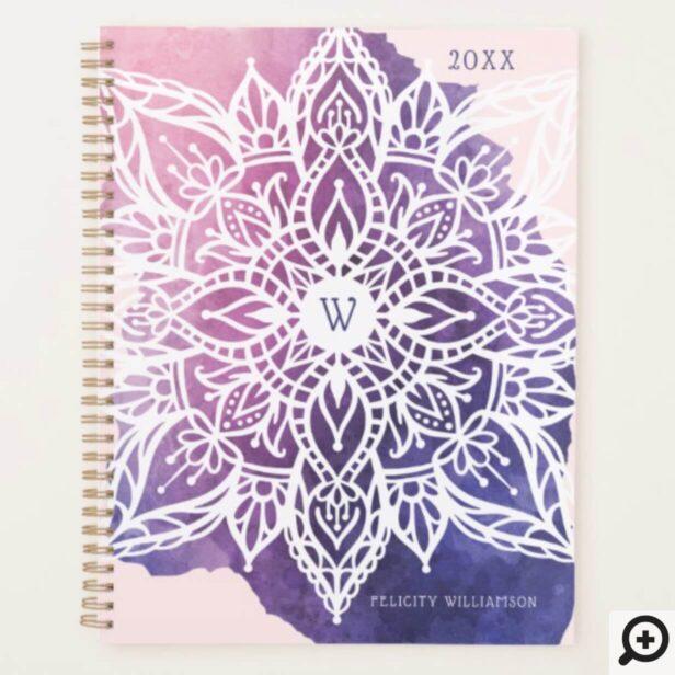 Spiritual Organic & Geometric Mandala Watercolor Planner