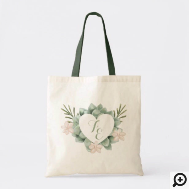 Personalized Wedding Tote - Country Sage Florals