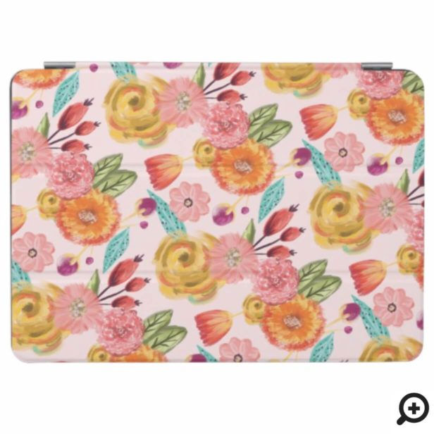 Beautiful Vibrant Wildflower Botanical Pattern iPad Air Cover