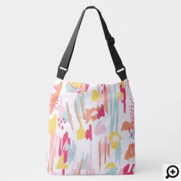 Modern Abstract & Artistic Colorful Paint Strokes Crossbody Bag