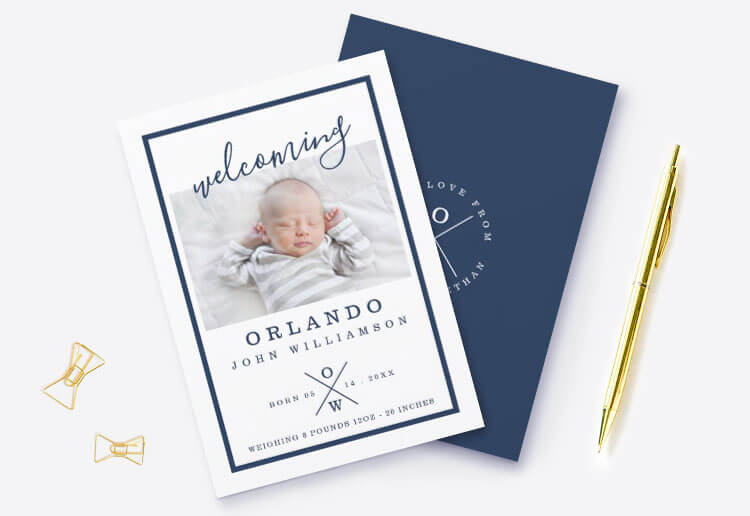 Baby Birth Announcements By Moodthology