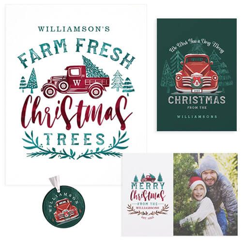 Farm Fresh Christmas Tree Delivery Vintage Truck Christmas Collection