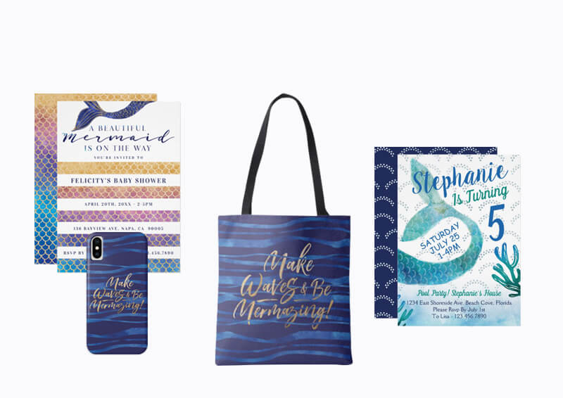 Mermaid Design Collection By Moodthology Papery