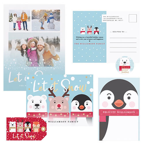 Merry Little Christmas Cute Winter Animal Christmas Collection