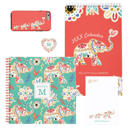 Ornate Floral Elephant Design Collection
