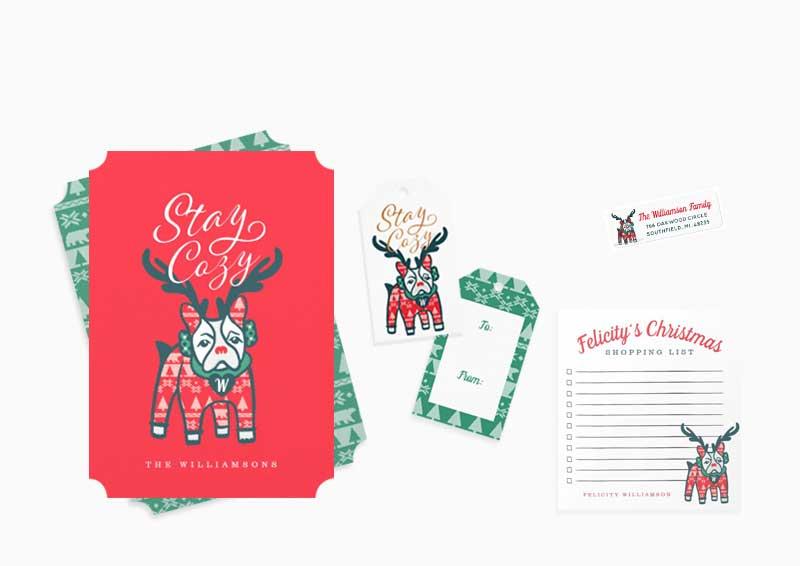 Reindeer Bulldog Christmas Collection