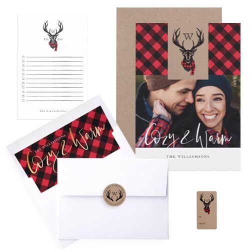 Reindeer Plaid Christmas Collection