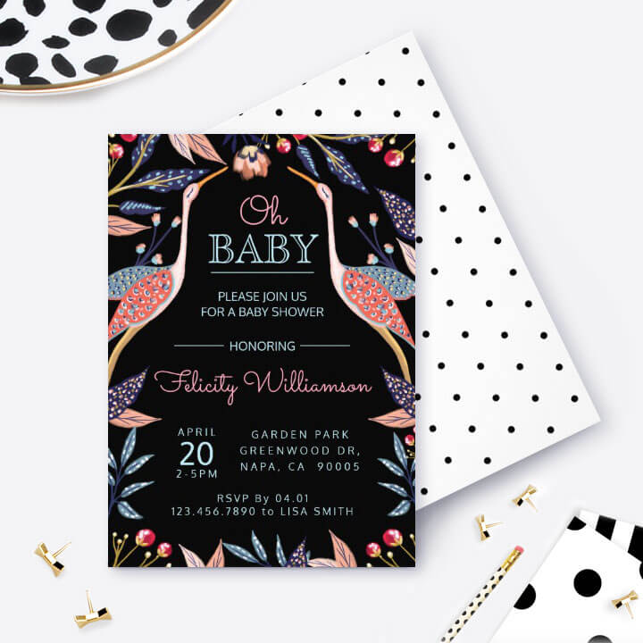 Stork Oh Baby Baby Shower Party Collection By Moodthology Papery