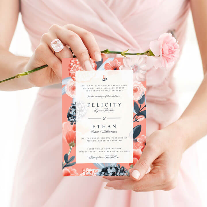 Wedding Shop Botanical Floral Wedding Design Collection By Moodthology Papery