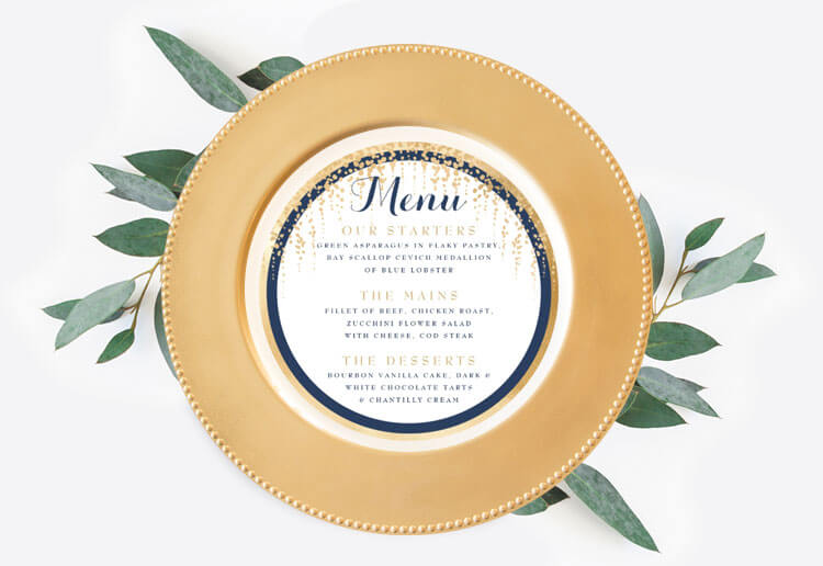 Shop Wedding Menus By Moodthology Papery