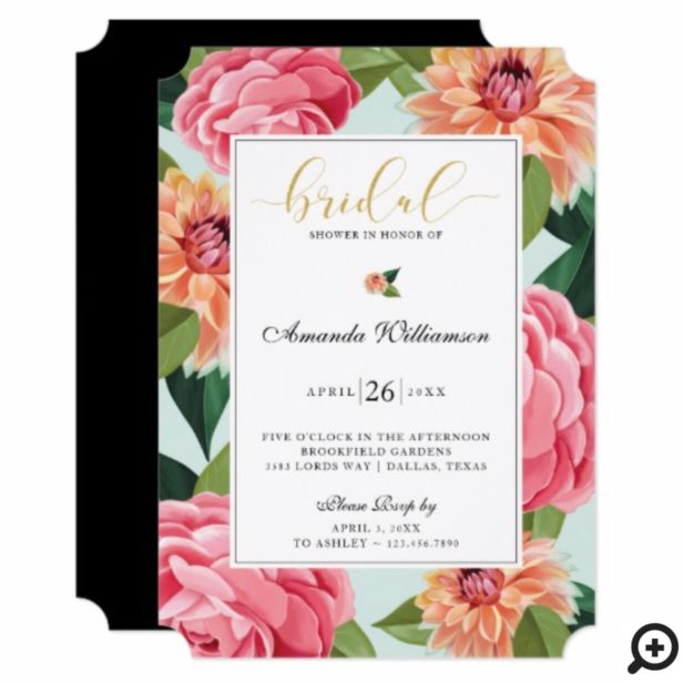 Timeless Blooms Watercolor Floral Bridal Shower Invitation