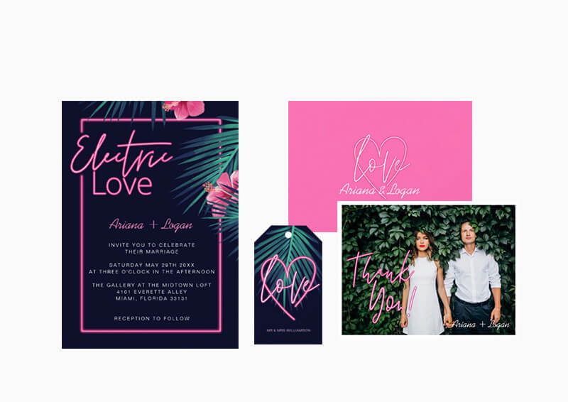 Electric Love Wedding Suite Collection