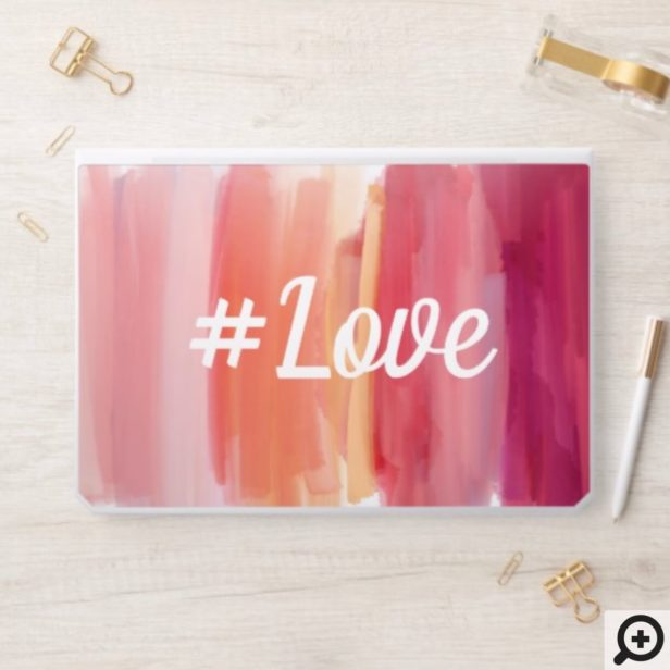 Hashtag Love | Pink Watercolor Ombre Wash HP Laptop Skin