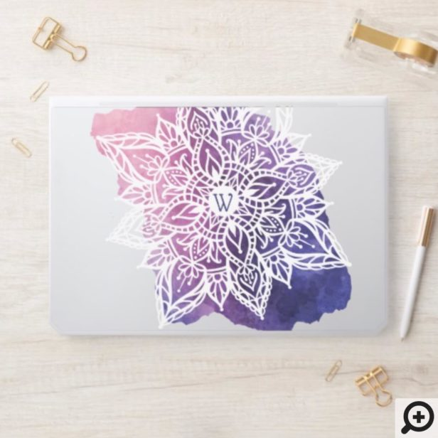 Spiritual Organic & Geometric Mandala Watercolor HP Laptop Skin