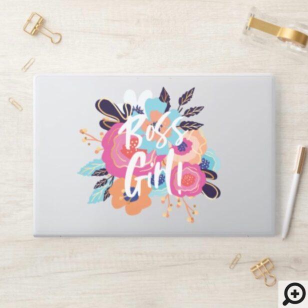 Boss Girl Script & Trendy Bold Florals HP Laptop Skin