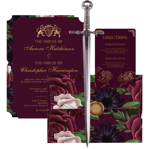 Game of Thrones Inspired Royal Muse Wedding Collection Suite
