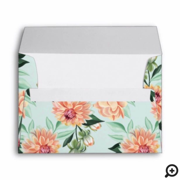Timeless Blooms Vibrant Watercolor Floral Wedding Envelope