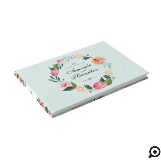 Timeless Blooms Vibrant Watercolor Florals Wedding Guest Book