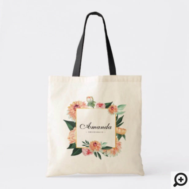 Timeless Blooms Watercolor Florals Wedding Party Tote Bag
