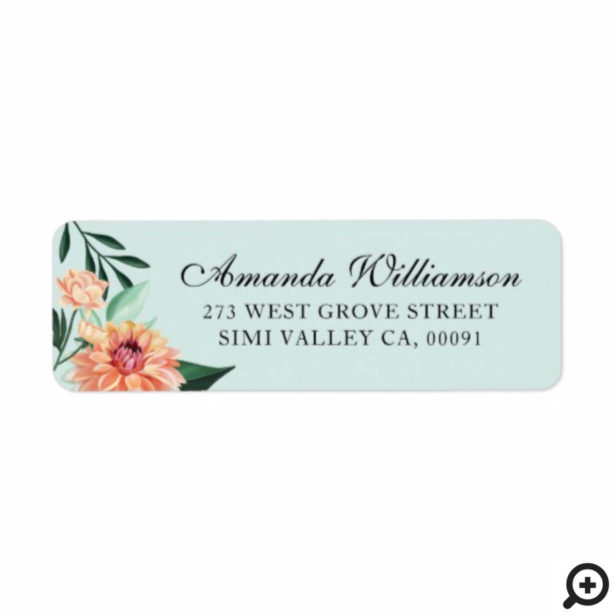 Timeless Blooms Vibrant Watercolor Floral Wedding Label