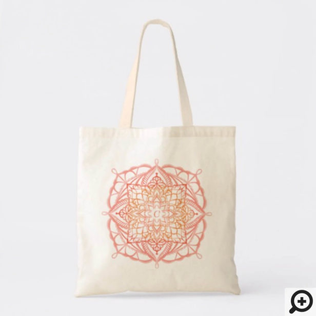 Spiritual Organic & Geometric Mandala Watercolor Tote Bag