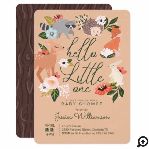 Cute Woodland Forest Animals Baby Shower Invitation
