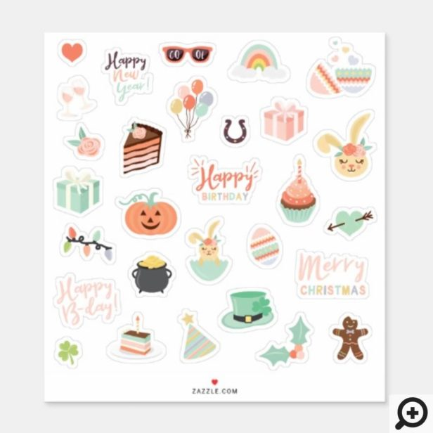 Special Occasions Holiday Celebration Sticker Set