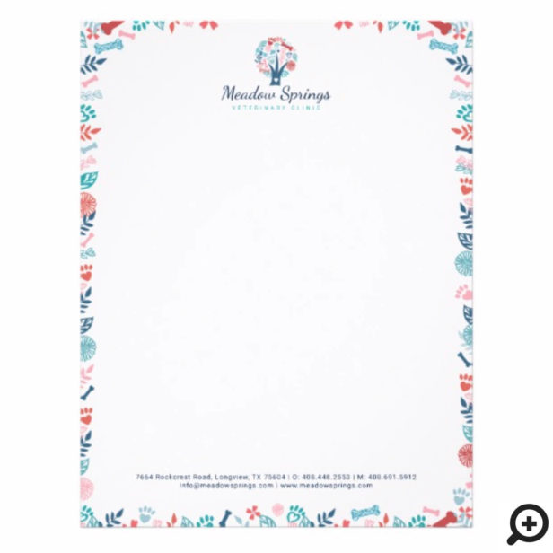 Floral & Foliage Pet Print Frame & Tree Letterhead