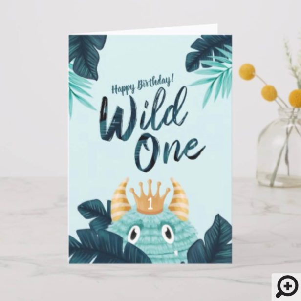He's a Wild One Blue Monster & Tropical Jungle Card1