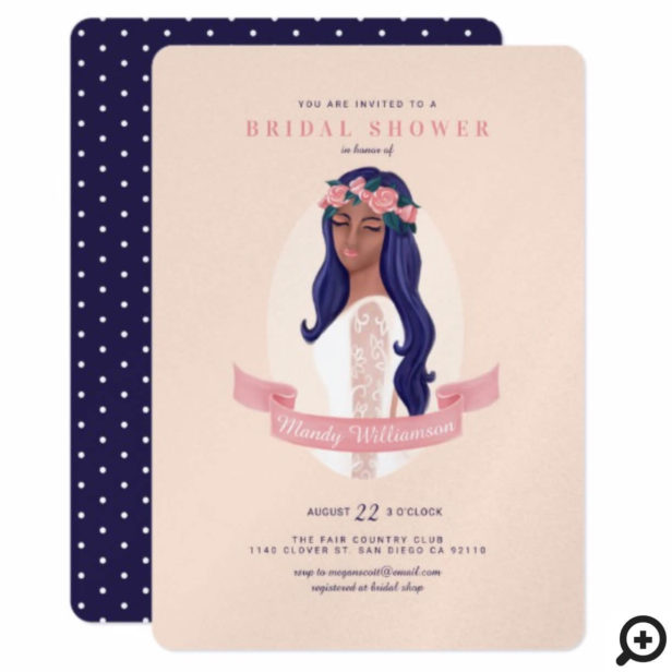 Shower The Beautiful Bride To Be Bridal Shower Invitation