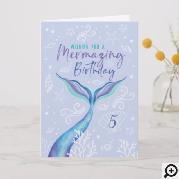 Wishing You a Mermazing Birthday Under The Sea Card