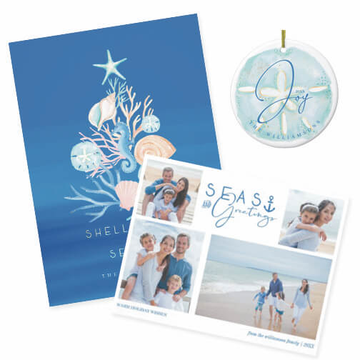 Christmas By The Sea Coastal Seaside Holiday Collection