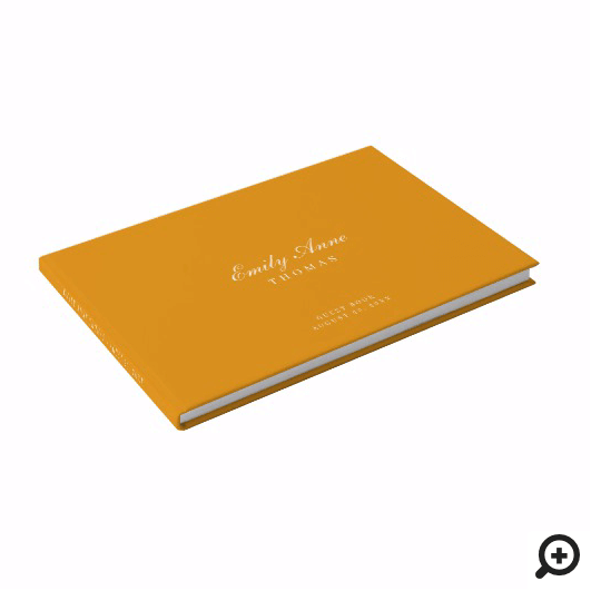 Elegant & Sophisticated Mustard Yellow Baby Shower Guest Book