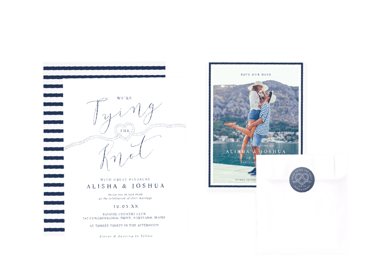 Tying The Knot Nautical Ocean Wedding Theme Collection