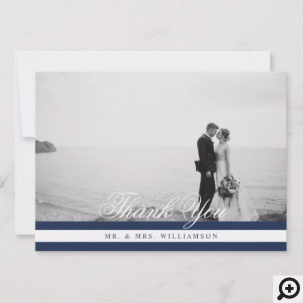 We Tied The Knot Nautical Navy & White Save The Date