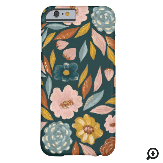Abstract Botanical Floral & Leaf Oil Painting Case-Mate iPhone Case