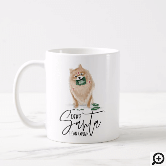 Dear Santa I Can Explain.. Naughty Dog Watercolor Coffee Mug