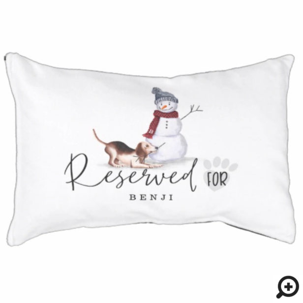 Naughty Watercolor Beagle Dog Reserved For Pet Bed