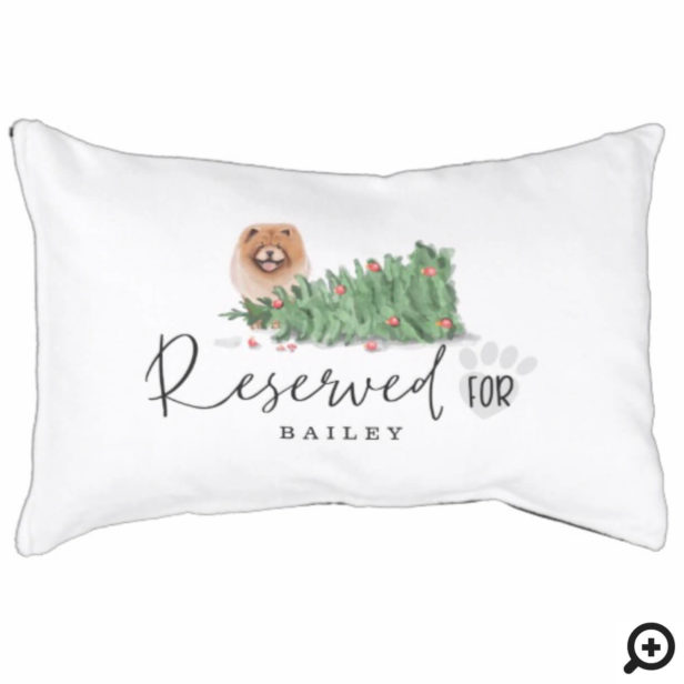 Naughty Watercolor Chow Chow Dog Reserved For Pet Bed