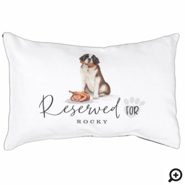 Naughty Watercolor St Bernard Dog Reserved For Pet Bed