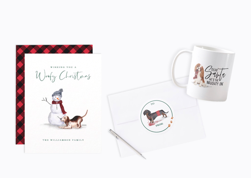 Naughty Dog Woofy Christmas Collection By Moodthology Papery