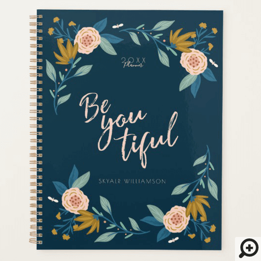 Be You tiful Pretty Floral Garden & Leaves Frame Planner