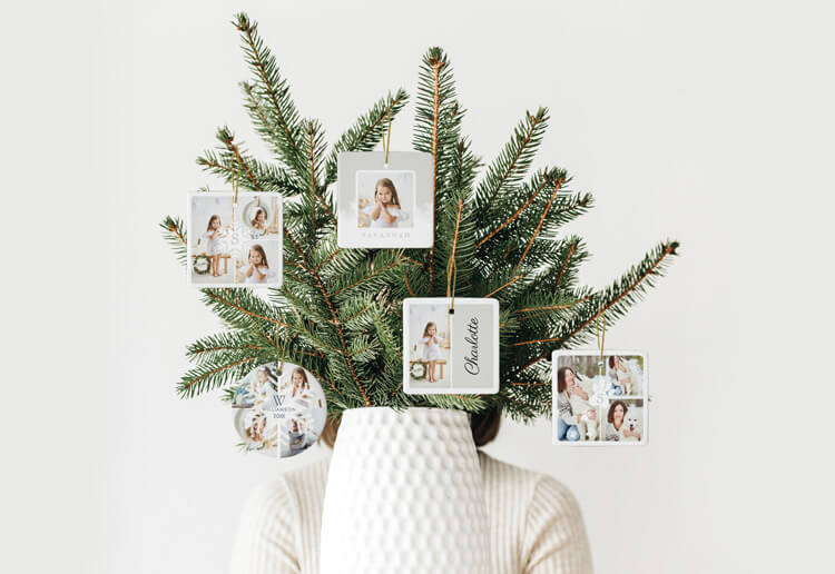 Christmas Gift Guide - Shop Special Personalized Photo Christmas Ornaments By Moodthology Papery