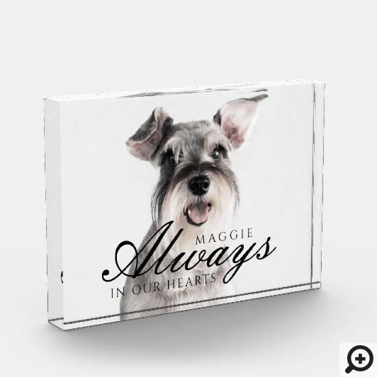 Always In Our Hearts Pet Memorial keepsake Photo Block